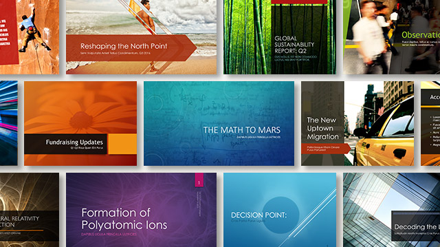 PowerPoint Designer Sample Slides