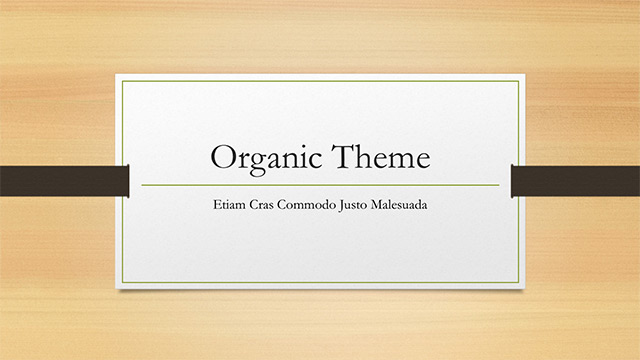 Organic Theme V0 Ttitle Slide